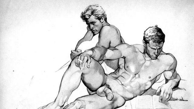 Рисунки голых мужчин