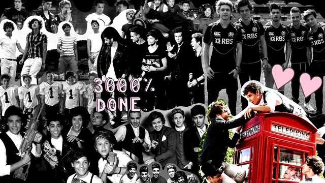 One direction collage tumblr 2015 - Imagui One Direction Tumblr Collage Black And White
