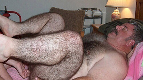 Hairy Father Bum Copulating