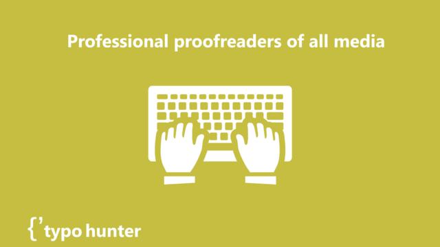 Professional proofreader