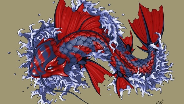 Image gallery koi dragon for Koi dragon meaning