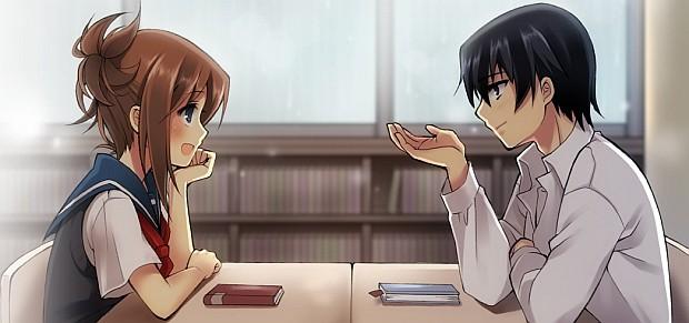 Resultado de imagem para anime girls talking tumblr