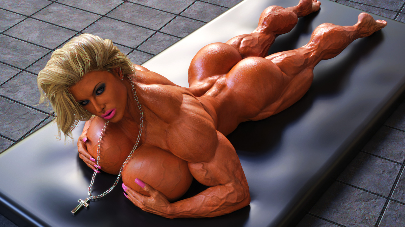 Muscle women 3d video adult image