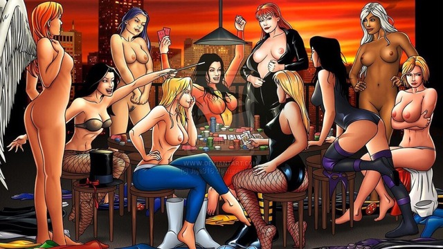 College girls strip poker game