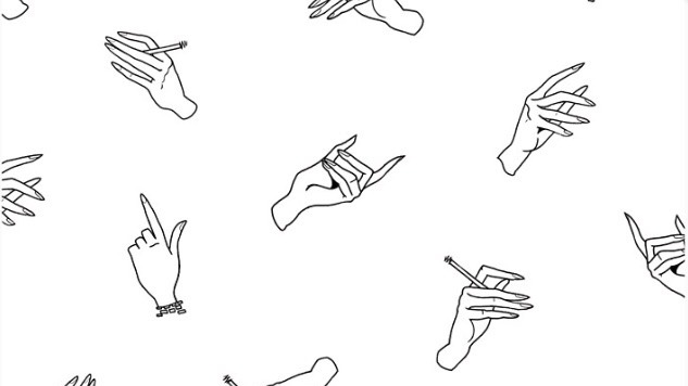 Hand holding cigarette drawing gallery for Tumblr hand drawings