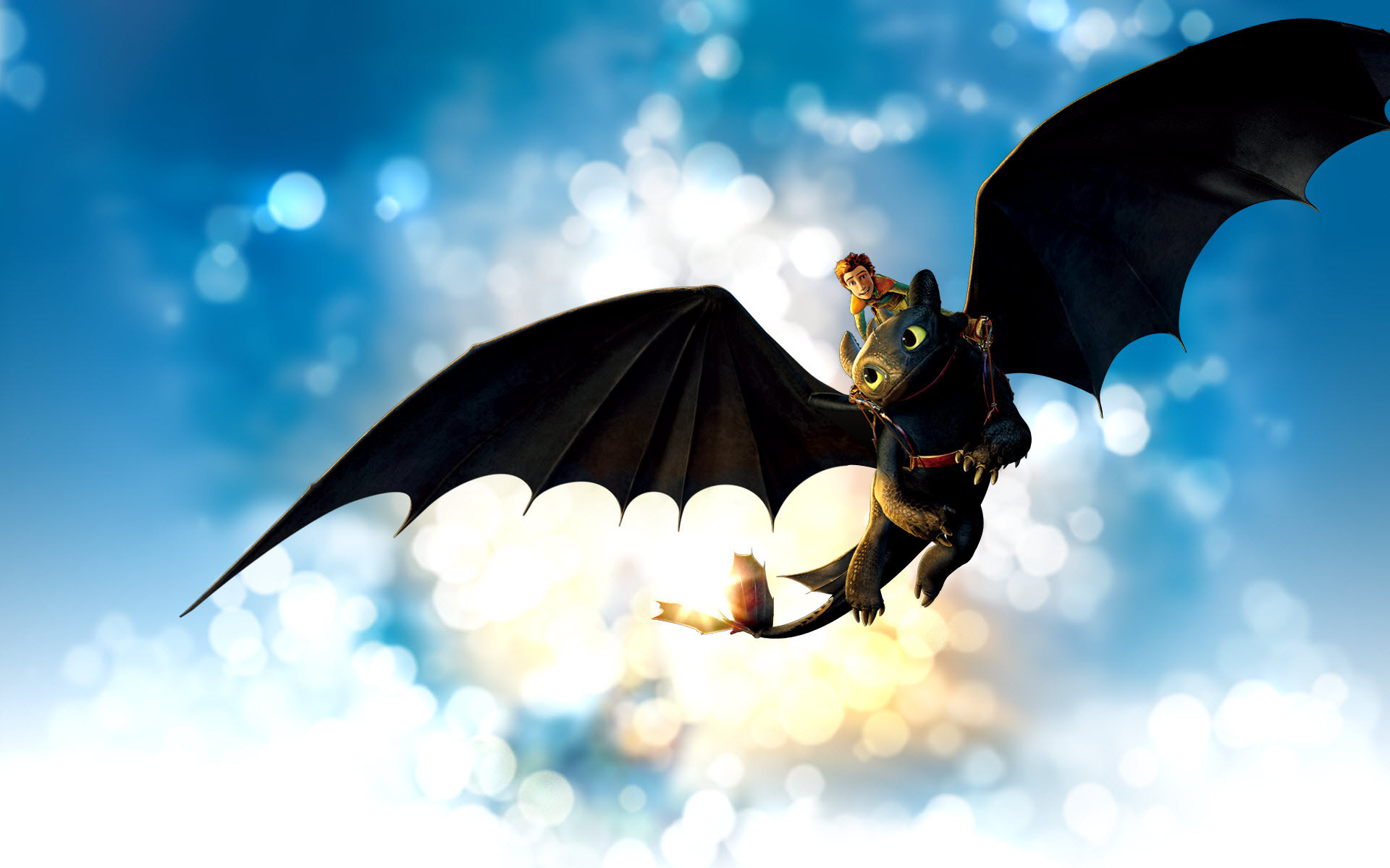 Hiccup And Toothless Flying