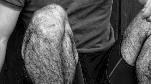 Hairy legs hunk masturbating - 429tubecom