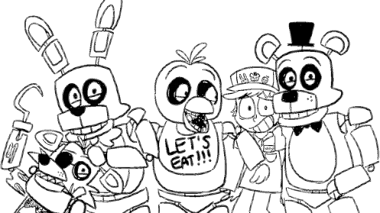 fnaf 3 coloring pages - photo#29