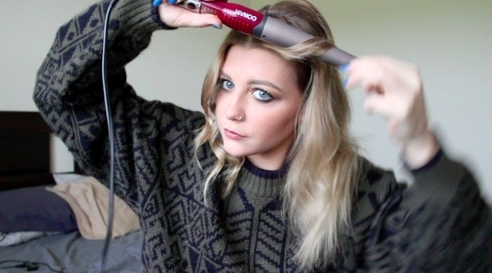 Excellent Hair Curling Wand Tumblr Hairstyle Inspiration Daily Dogsangcom