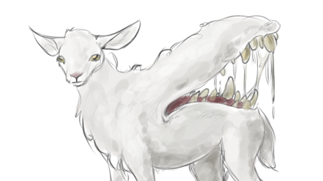 Demon Sheep Clip Art
