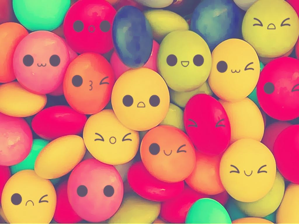 Cute Candy With Faces Wallpaper Japan Candy