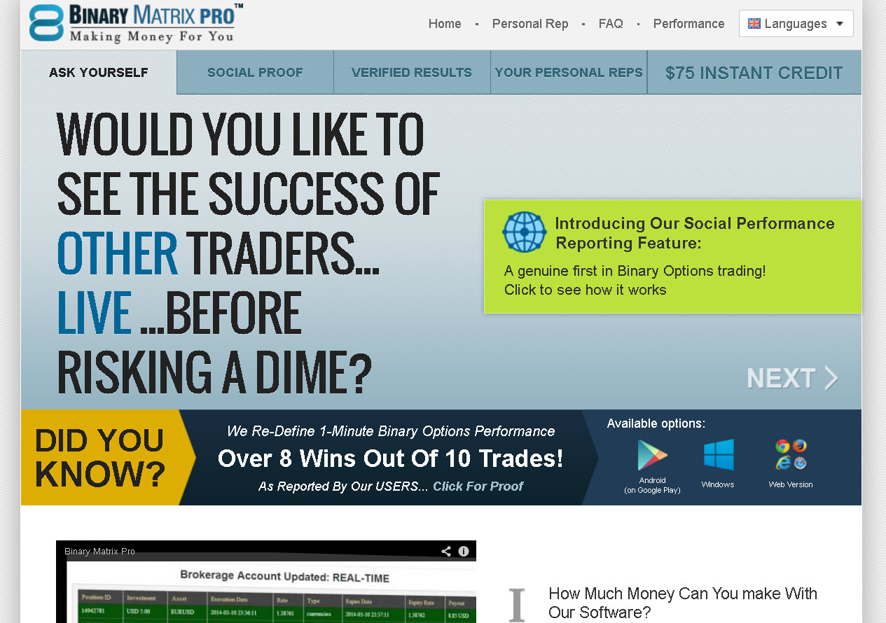 Reputable and regulated binary options trader the best binary options software