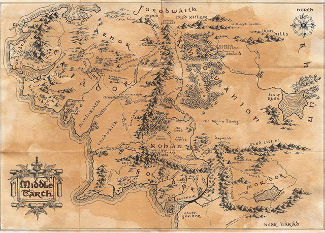 The Map Of Middle Earth ~ AFP CV