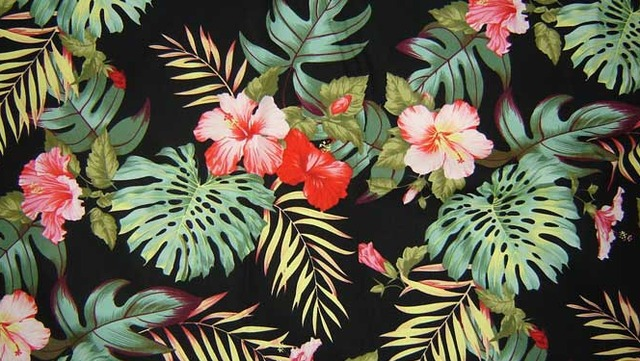 Hawaiian Flower Pattern Tumblr
